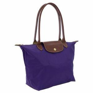 Longchamp Small Le Pliage Shopper in Purple